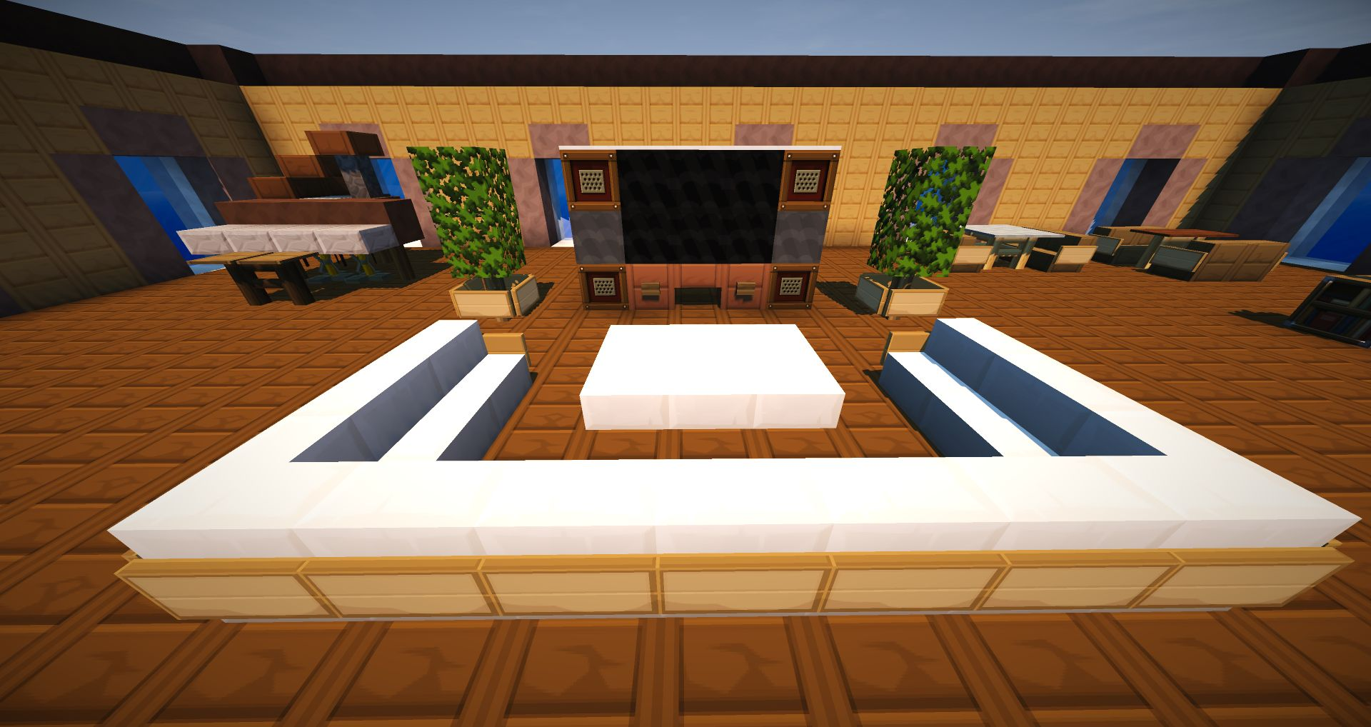 Minecraft vanilla livingroom furniture map 01 Living room furniture minecraft