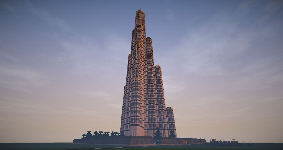 Minecraft Burj Khalifa building for Minecraft 1.7.2