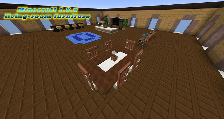 Minecraft Modern Livingroom Furniture 18 Vanilla