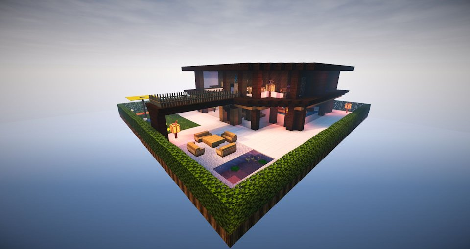 Minecraft modern living building for Minecraft 1.8