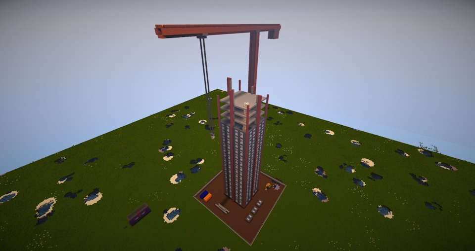 Minecraft building site only one command